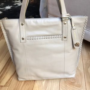 Gorgeous genuine leather taupe Tommy Bahama purse